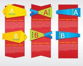 Bannière verticale origami. — Vecteur