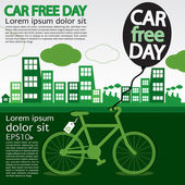 September 22nd World car free day — Stock Vector