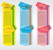 Colorful vertical banners — Vector de stock