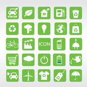 24 Ecology icons set. — Stock Vector