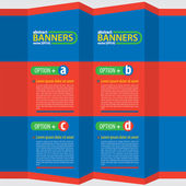 Colorful Banners — Vettoriale Stock