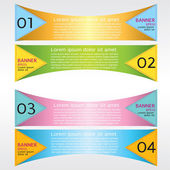 Origami colorful banner. — Vettoriale Stock