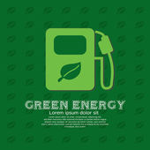Green energy concept — Vector de stock