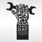 Labor Day Conceptual — Stock Vector