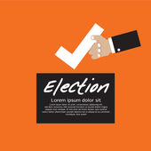 Vote For Election Concept. — Stock Vector