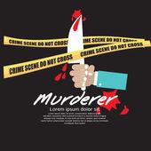 Crime Scene — Stock Vector