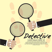 Detective Concept. — Stock Vector