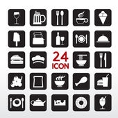 Food And Beverage Icon Set — Stock Vector