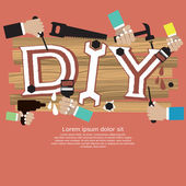 DIY Concept. — Stock Vector