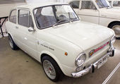 Fiat 850 Abarth 1000 843CC on display — Stock Photo