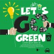 Go Green Concept. — Stock Vector