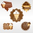 Stock Vector: Set of Ice Cream Badge