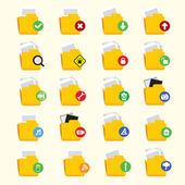 Folder Icon Set — Stock Vector