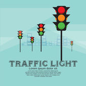 Traffic Light Vector Illustration.EPS10 — Stock Vector
