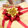 Close up of Ribbon on Gift Box. — Stock Photo