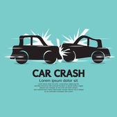 Car Crash Vector Illustration EPS10 — Stock Vector