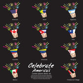 Celebrate Americas Vector Illustration EPS10 — Stock Vector