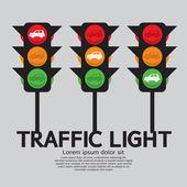 Traffic light Vector Illustration EPS10 — Stock Vector