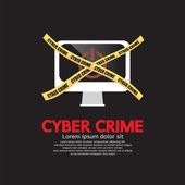 Cyber Crime Concept Vector Illustration EPS10 — Stock Vector