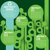 Zelený koncept infographic. — Stock vektor