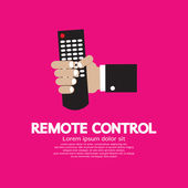 Hand Holding A Remote Control — Stock Vector