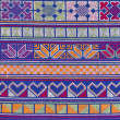 图库照片: Thai Hill Tribe Mountaineer Pattern Fabric.