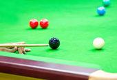 Snooker Balls on Table. — Stock Photo