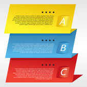 Colorful Three Step Banners Vector — Stockvektor