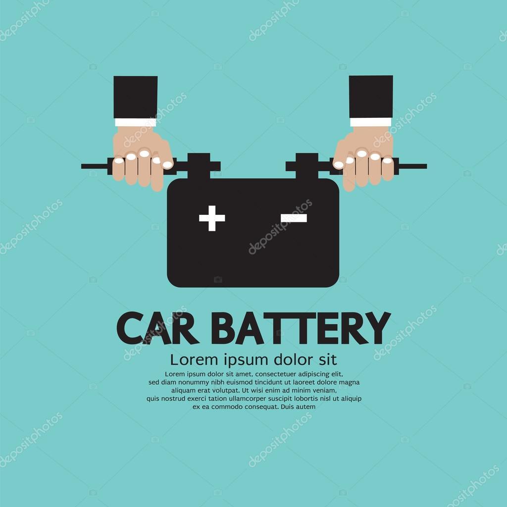 Car Battery Vector Car Battery Vector