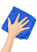 Man's Hand Wiping Surface. — Stock Photo
