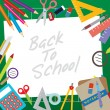 Back to School Concept — Stock Vector