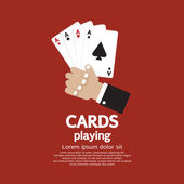 Card Playing Vector Illustration EPS10 — Stock Vector