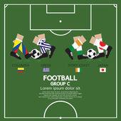 Grup c 2014 futbol turnuvası — Stok Vektör