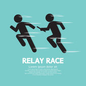Relay Race Vector Illustration — Stock Vector