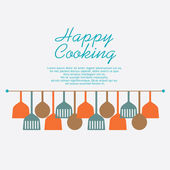 Happy Cooking Concept — Stock Vector
