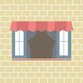 Flat Design Window Vector Illustration — Stock Vector