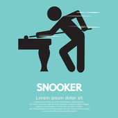 Snooker Player Vector Illustration — Stock Vector