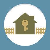 дом с картой понятие ключевое свойство — Cтоковый вектор