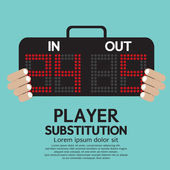 Player Substitution Sport Vector Illustration — Stock Vector