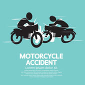 Motorcycle Accident Vector Illustration — Stock Vector