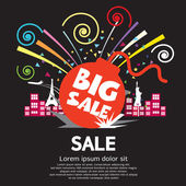 Big Sale Vector Illustration — Stock Vector