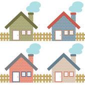 Uppsättning av lantliga hem stil — Stockvektor