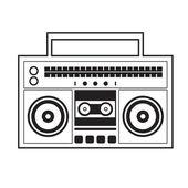 Ghetto Blaster Radio Vector Illustration — Vetorial Stock