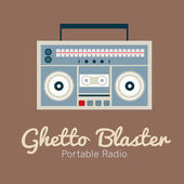Ghetto Blaster Radio Vector Illustration — Stockvektor