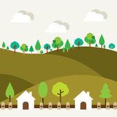 Natural Landscape Background — Stock Vector