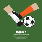 Football Player Make Injury To An Opponent — Stock Vector