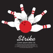 Bowling Strike  — Stock Vector
