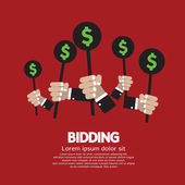 Bidding or Auction Concept Vector Illustration — Stock Vector