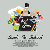 Back To School Concept. — Stock Vector