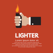 Hand Holding A Lighter — Stock Vector